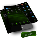 Скачать тему RubberGreen Next Launcher