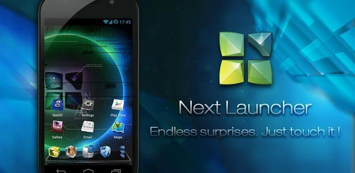 Next Launcher 3D Shell на андроид