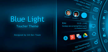 Blue Light Toucher Theme GO