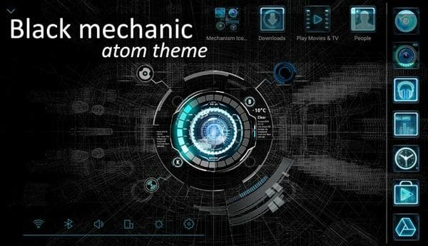 Black mechanic Atom Theme на андроид