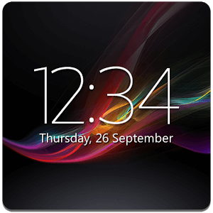 Скачать Digital Clock Widget Xperia