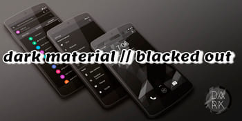 dark material // blacked out