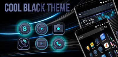 Cool Black Launcher Theme