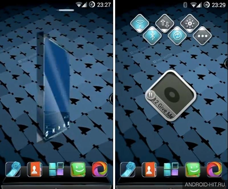 Скриншот Next Launcher 3D Shell на андроид