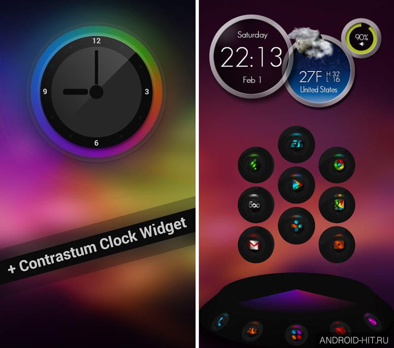 Скриншот Contrastum Next Launcher Theme на андроид