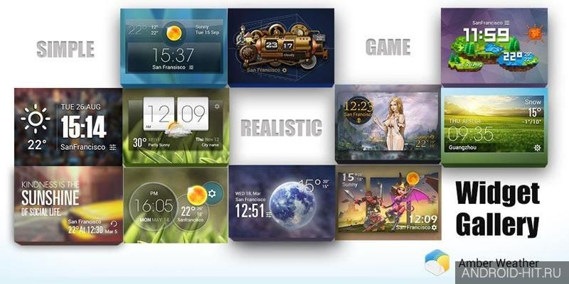 Скриншот HD Transparent Weather Clock на андроид